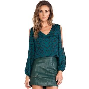 Lovers & Friends Daydream Blouse Evergreen Animal